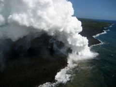 Kilauea, December 19, 2008.  Photo courtesy of USGS.