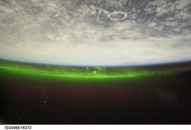 Aurora as seen by the ISS