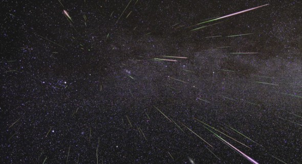 Geminid Meteor Shower, Source: NASA